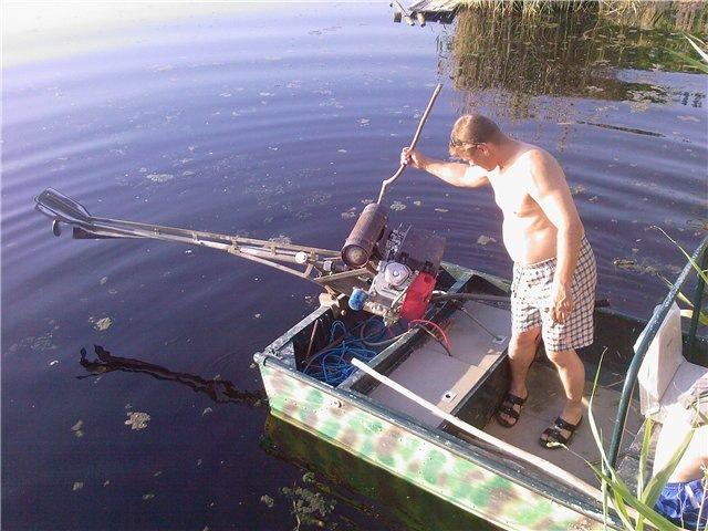 болотоходный двигатель на лодку