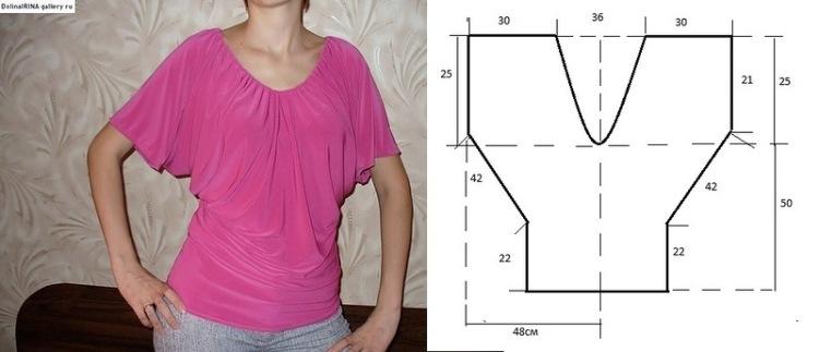 Oct 11, 2010- Выкройка блузки с просто распечатайте и склейте лекала
