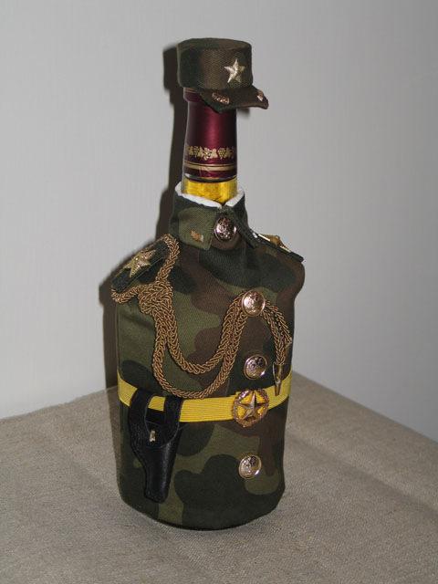 Как украсить бутылку коньяка своими руками для мужчины