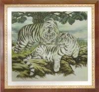 Код для вставки на сайт или форум.  Vrabie.  White Tiger Eyes.  Схема вышивки крестом в формате XSD.