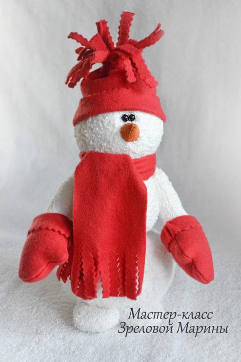 Шьем снеговика своими руками фото