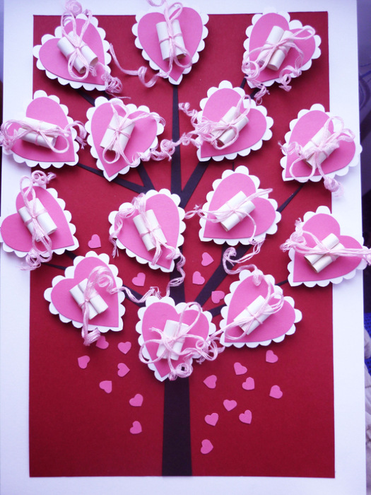 Поделки к дню валентина из бумаги