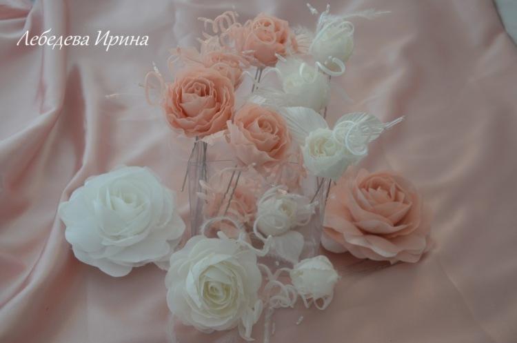 шпильки ля украшения прически невесты, возможны зазные цвета и размеры Готовые работы можно посмотреть и приобрести в...
