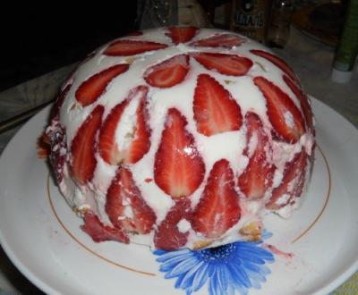 Кухня: Заливной торт с фруктами Феерия вкуса