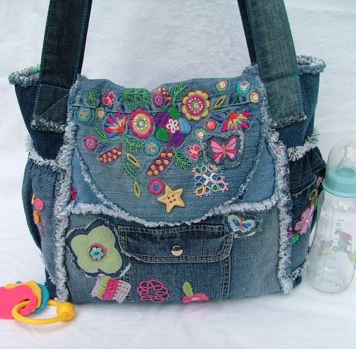 Джинсовая сумка своими руками из старых джинс