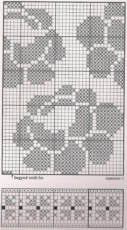 Схемы жаккардовое вязание цветов спицами