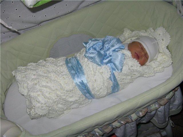 Конверт новорожденного своими руками вязаный фото