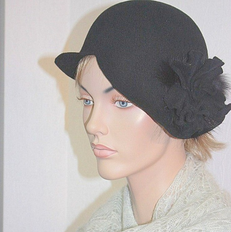 Декоративные шляпки из фетра