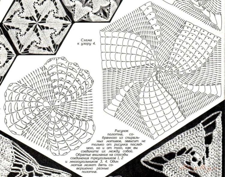 Вязание крючком спиральных мотивов 29