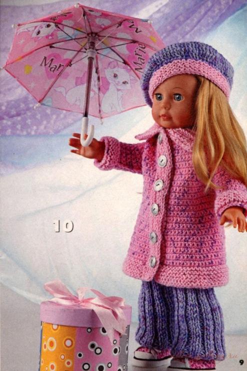 Осталось связать шляпу. для Барби вязаная одежда для кукол платье для Барби крючком вязание для кукол