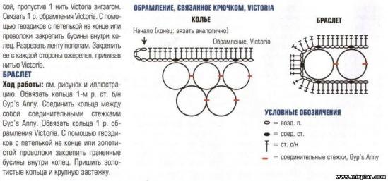 """Связанные крючком браслет и серьги.  Вам потребуется: остатки терракотовой пряжи  """"Тури-Гарус """" (100 % вискоза..."""