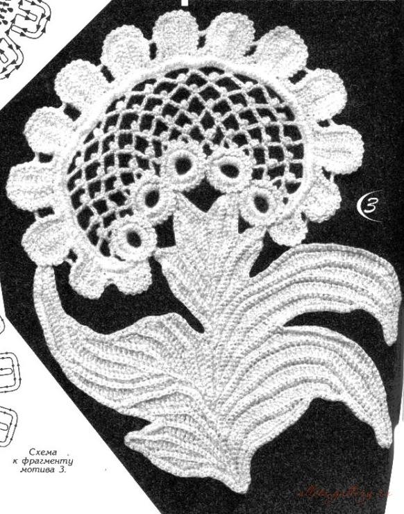爱尔兰花边花型  17:一花独放的应用  - 荷塘秀色 - 茶之韵