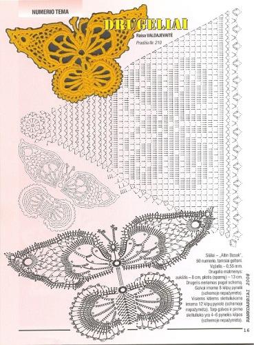 Вязаные бабочки, стрекозы.  Прочитать целикомВ.