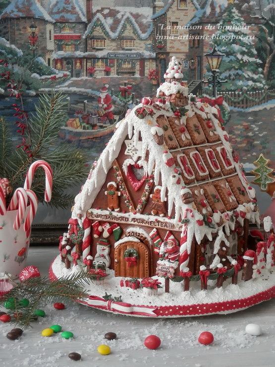 Пряничный домик из соленого теста своими руками фото 903