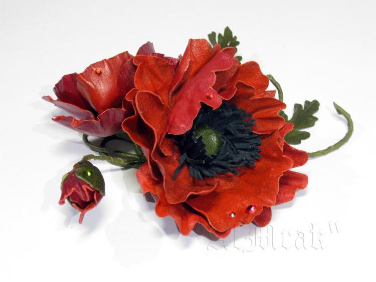 Изделия из кожи цветы