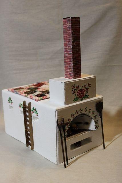 Как сделать печь из картона