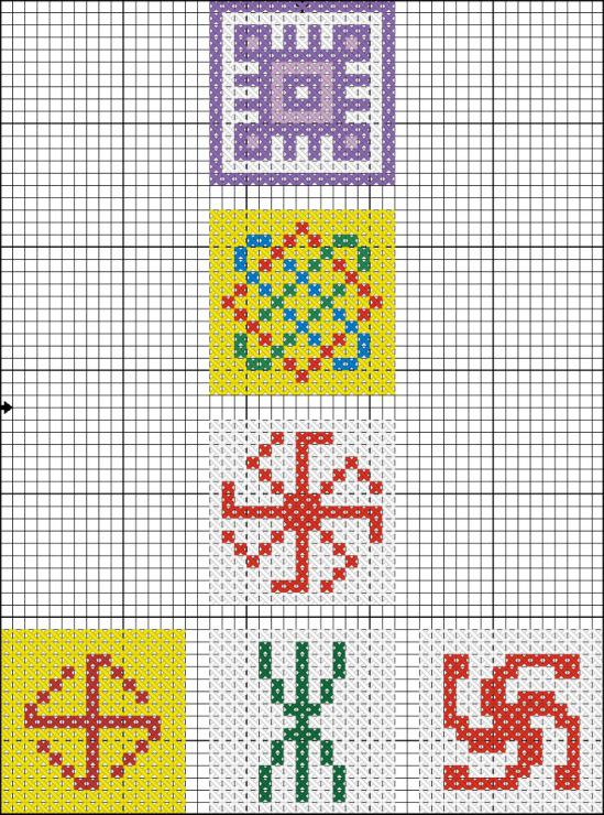 Схемы вышивок амулетов
