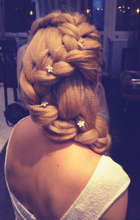 прическа гофре коса