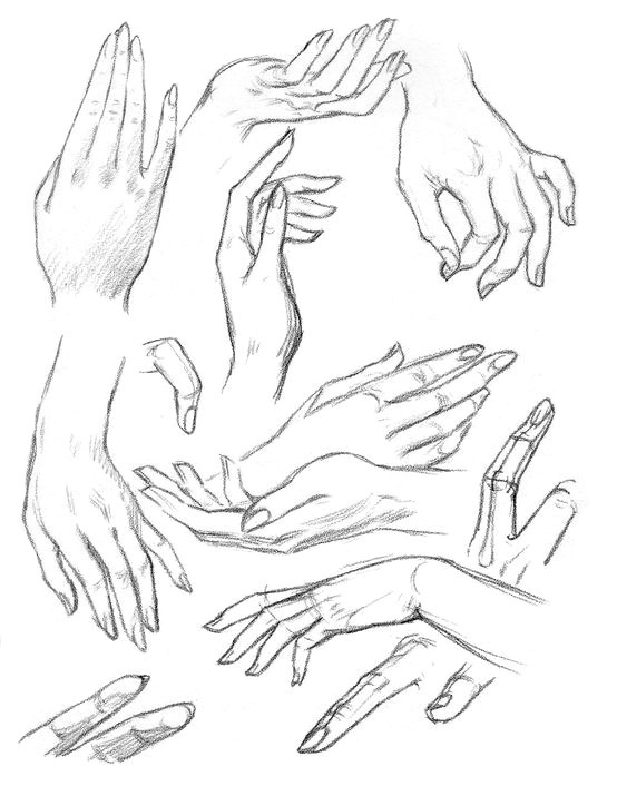 Как нарисовать руку с карандашом Сайт о рисовании